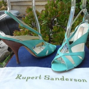 Rupert Sanderson Patent Leather Strappy 38 1/2 7 8